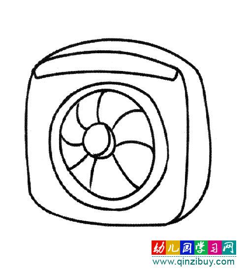 简笔画:排风扇-幼儿园教案网