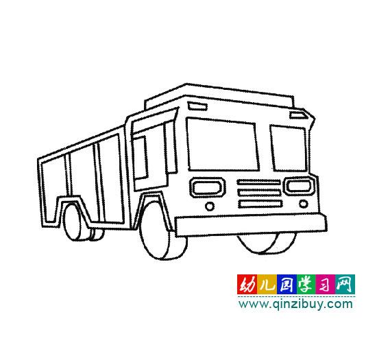 简笔画 超级大卡车