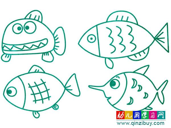 >> 文章内容 >> 各种各样鱼的简笔画图片  海底有各种各样的鱼,有的像