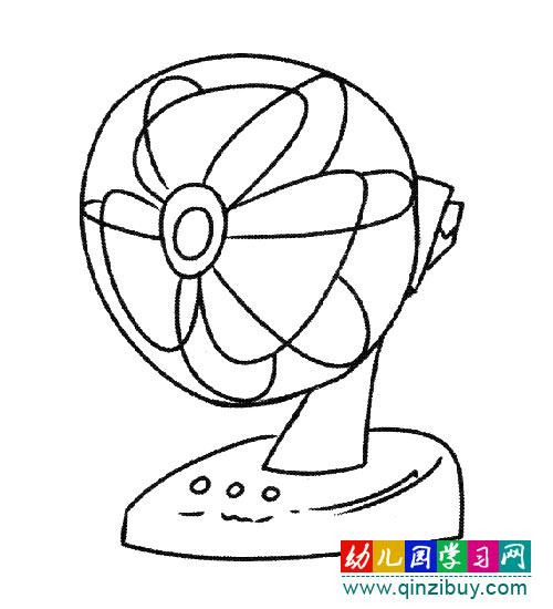 简笔画:摇头风扇-幼儿园教案网