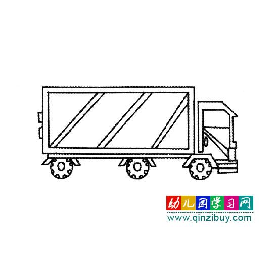 交通工具简笔画 带厢的卡车