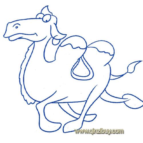 动物简笔画 飞奔的骆驼1