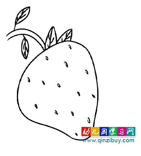 简笔画 新鲜的草莓
