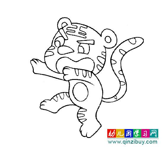 简笔画:老虎3—幼儿园教案网