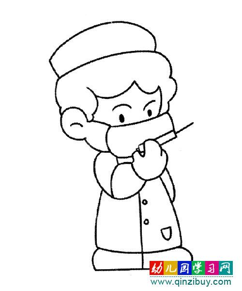 护士简笔画_医生护士简笔画幼儿园