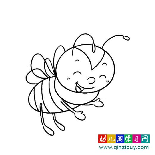 太阳公公刚刚露出笑脸,小蜜蜂们就飞到花丛里去采蜜了,多么勤劳啊!
