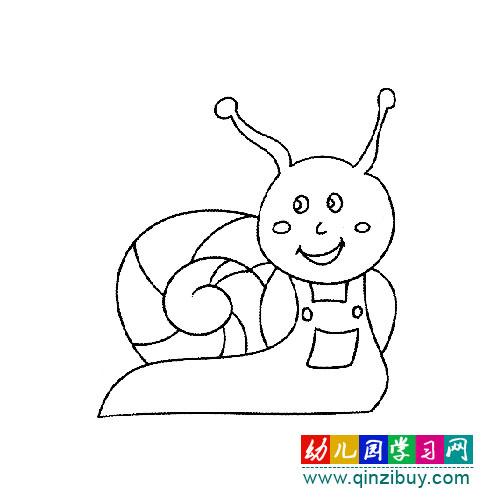 蜗牛简笔画 卡通