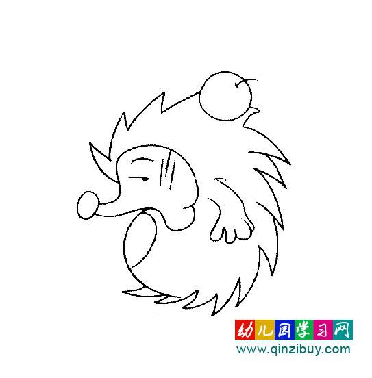 刺猬简笔画幼儿园