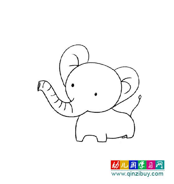 动物简笔画:可爱的大象