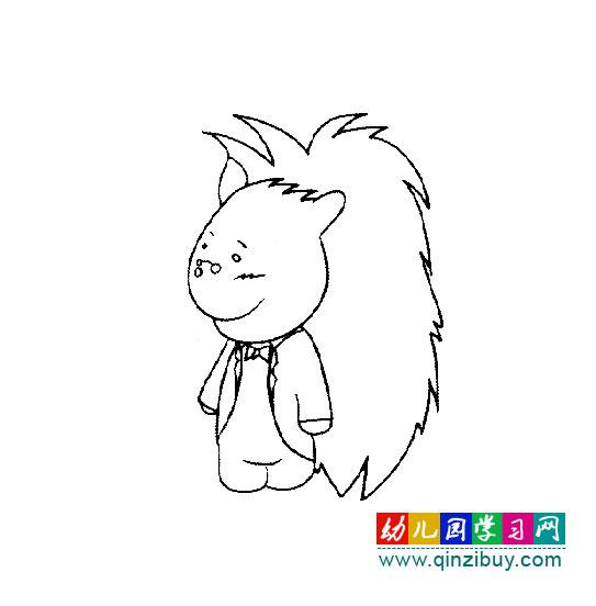 帅气的小刺猬(简笔画)—幼儿园教案网