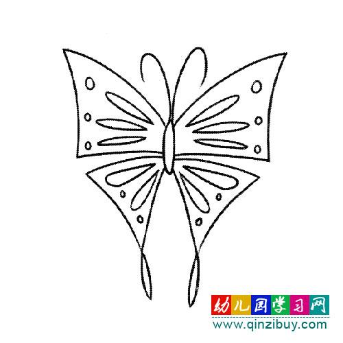 简笔画:如花朵的蝴蝶—幼儿园教案网