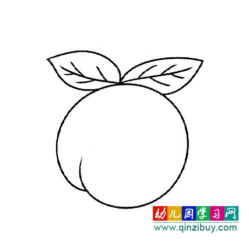 好吃的桃子 幼儿简笔画