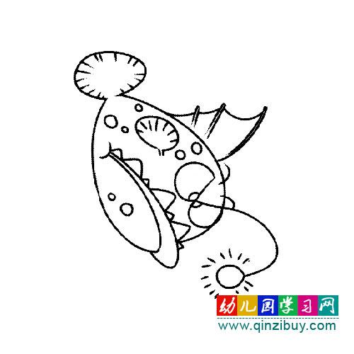 带电灯的鱼 幼儿简笔画