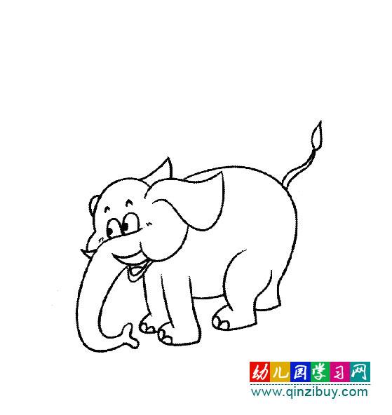 动物简笔画 一头高大的大象