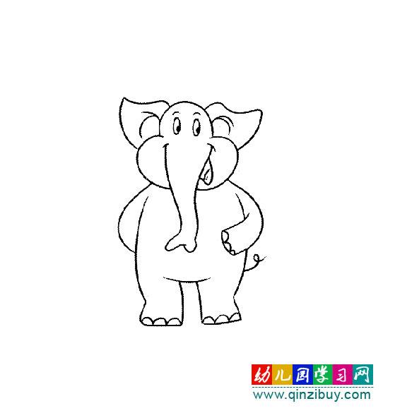 很有气派的大象(儿童简笔画)—幼儿园教案网