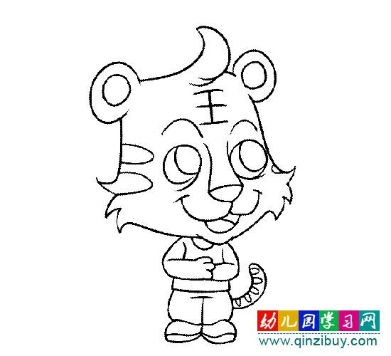 简笔画:一只小老虎