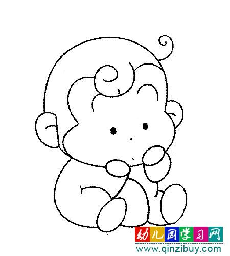 动物简笔画:熊猫 幼儿园学习网