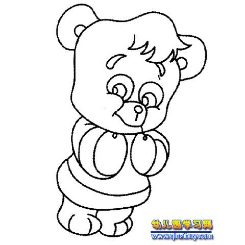 卖萌的熊猫(动物简笔画)