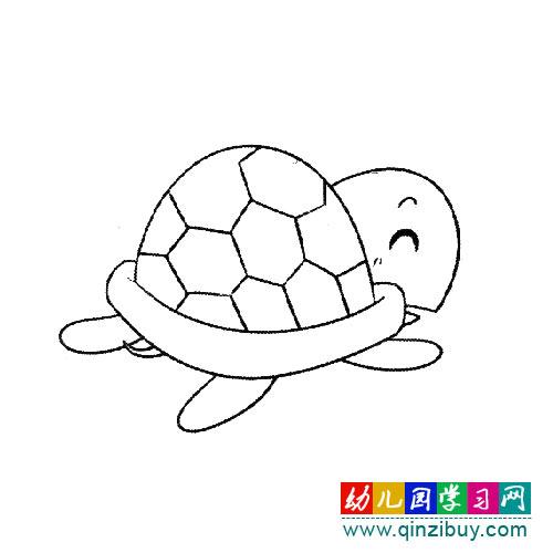 走路的小乌龟(幼儿简笔画)