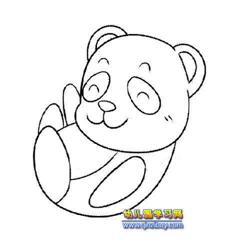 动物 >> 正文    编辑:小画师                顽皮的熊猫1(幼儿园简