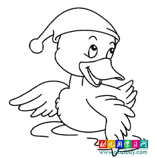 小鸟>> 正文 编辑:小画师 简笔画图片:得意的鸭子图片