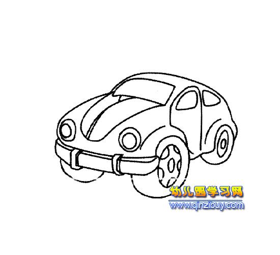 简笔画(小型汽车)3—幼儿园教案网