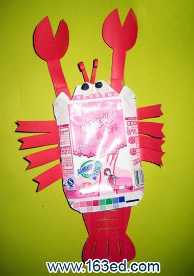 幼儿园环保手工教案:螃蟹—幼儿园教案网