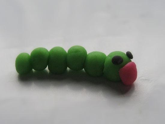 毛毛虫的橡皮泥作品—幼儿园教案网