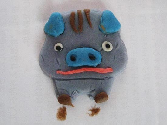幼儿橡皮泥作品:小猪