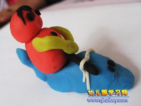 幼儿橡皮泥作品:小孩—幼儿园学习网手工制作