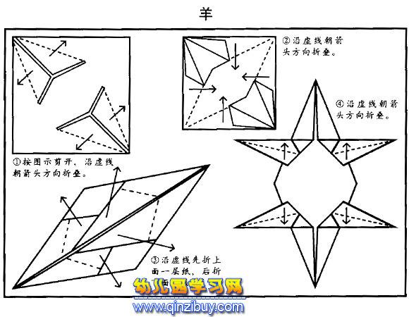 羊的简易折纸图解
