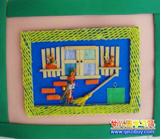 变废为宝手工作品:窗户下面—幼儿园教案网