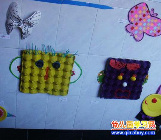 变废为宝手工作品:蛋托动物—幼儿园教案网
