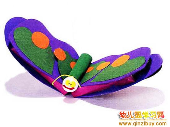 幼儿园环保手工:不织布蝴蝶—幼儿园教案网