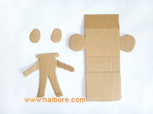 幼儿园环保手工制作:纸箱机器人