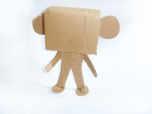 幼儿园环保手工制作:纸箱机器人—幼儿园教案网