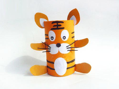 幼儿纸杯手工制作老虎图片