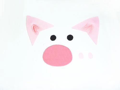 幼儿园环保手工制作:扇子小猪—幼儿园教案网