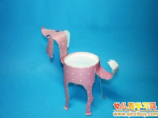 幼儿园环保手工制作:纸杯小羊