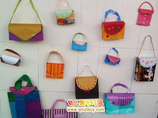 幼儿园环保手工制作:各种包包—幼儿园教案网