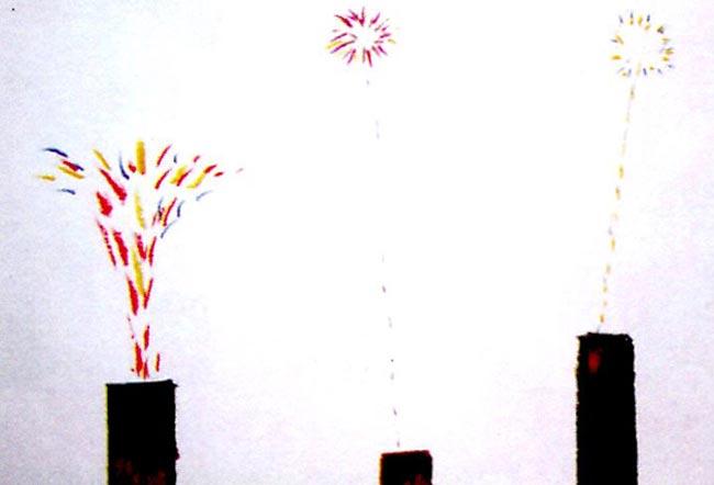 幼儿园小班美术活动设计《物体画》——噼噼啪啪