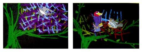 幼儿园小班画画教案设计:给鸟宝宝搭个窝