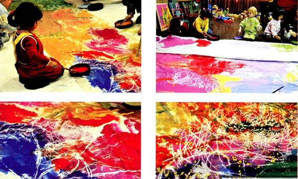 幼儿园小班美术彩色画教案:我是能干的粉刷匠图片
