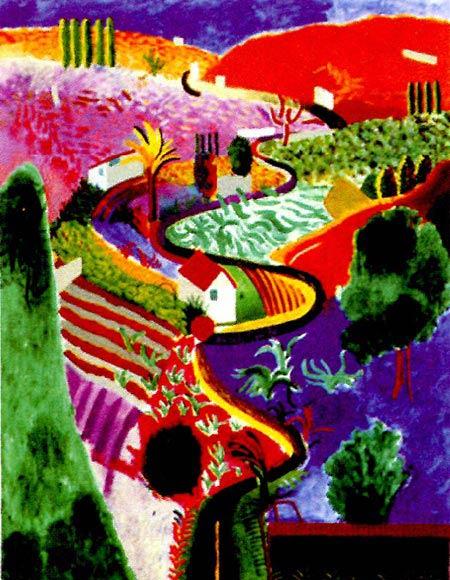 幼儿园小班美术彩色画教案:五彩世界图片
