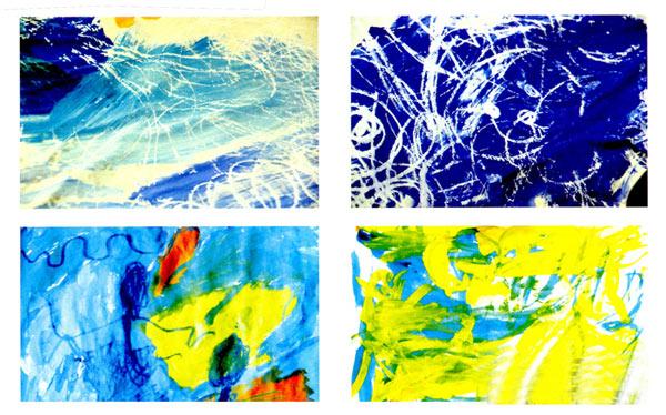 幼儿园小班美术教案彩色画活动:大海环抱的世界