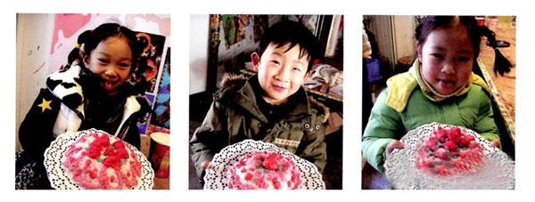 幼儿园小班美术教案彩色画活动:草莓蛋糕
