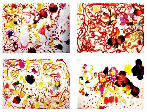幼儿园小班美术教案彩色画活动:花儿画