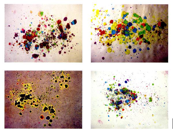 幼儿园小班美术教案彩色画活动:五彩瀑布动起来图片