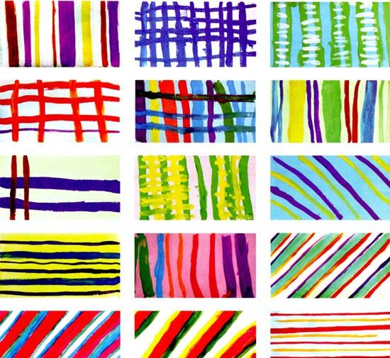 幼儿园中班美术教案:瓷砖的条纹衣—幼儿园奥运教案