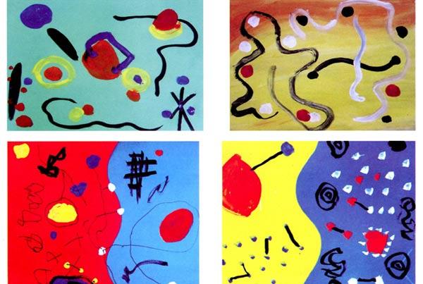幼儿园中班画画教案设计 当点点遇见线线